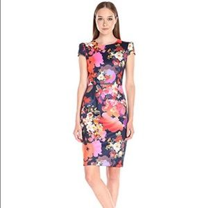 Betsey Johnson Navy Bouquet Dress 12